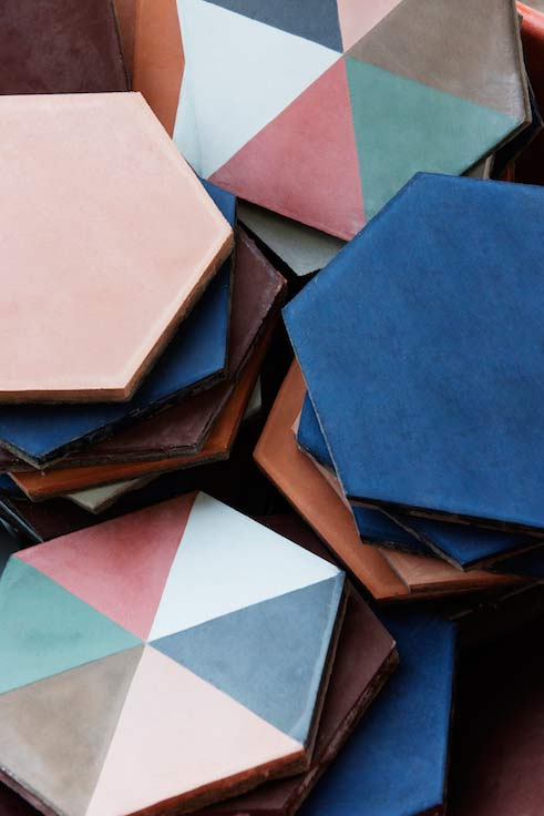 Designer hexagon tiles