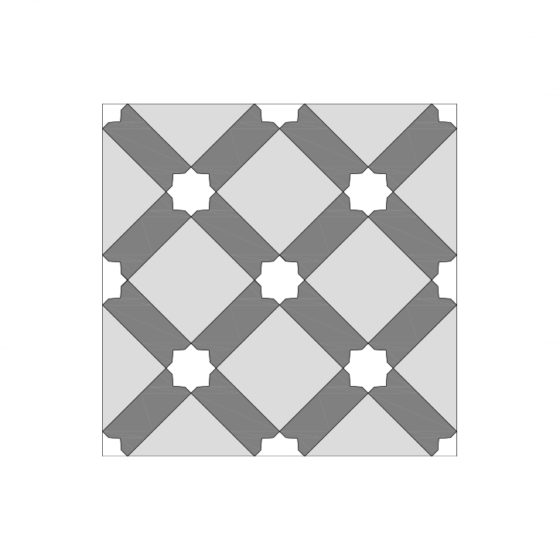 Crossed Design Tile